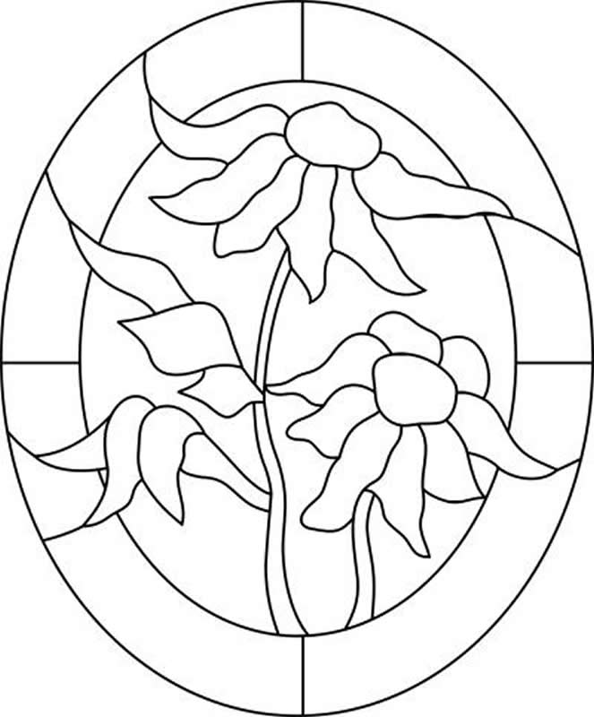 fiche cr ative patchwork incrust motif fleurs fa on vitrail. Black Bedroom Furniture Sets. Home Design Ideas