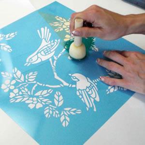 technique de la peinture au pochoir ForPochoir Pour Peinture
