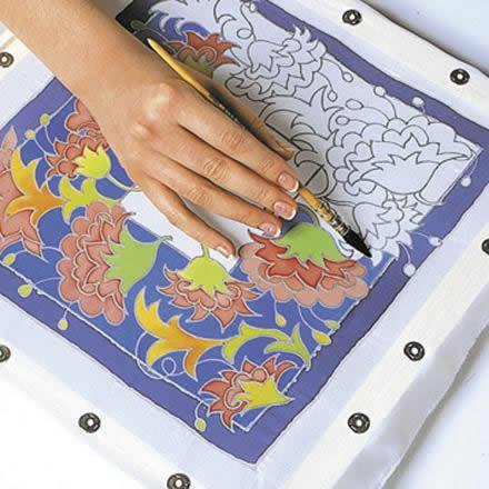 Fiche cr ative peinture sur soie g n ralit s for Technique de peinture sur soie en video