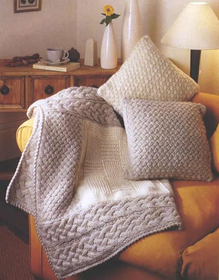 Fiche cr ative coussins en tricot for Salon tricot